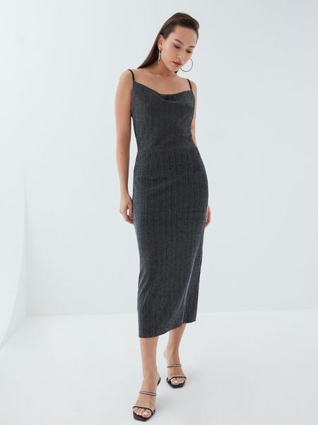 Платье с мерцающей нитью - фото 6