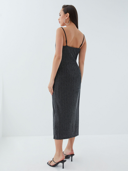 Платье с мерцающей нитью - фото 7