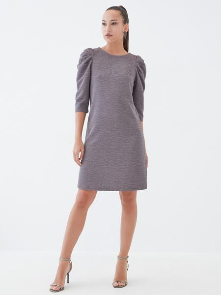 Платье со сборкой по рукавам - фото 1