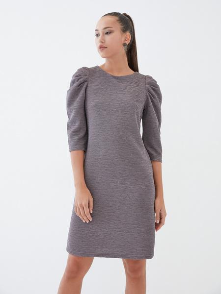 Платье со сборкой по рукавам - фото 2