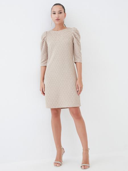 Платье со сборкой по рукавам - фото 4