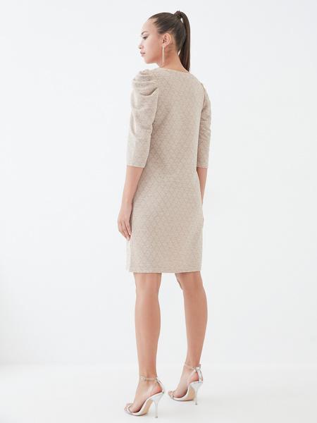 Платье со сборкой по рукавам - фото 5
