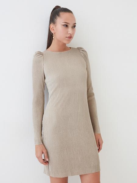 Платье-мини в рубчик - фото 1
