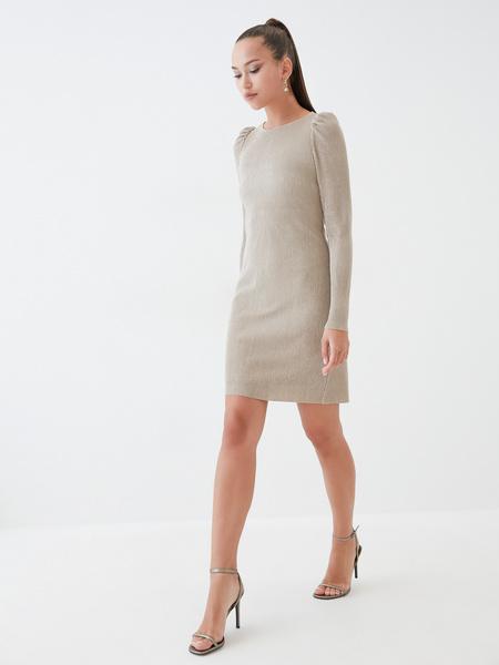 Платье-мини в рубчик - фото 4