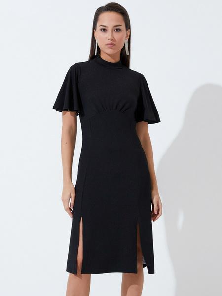 Платье со сборкой на груди - фото 1