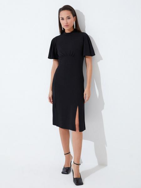 Платье со сборкой на груди - фото 2