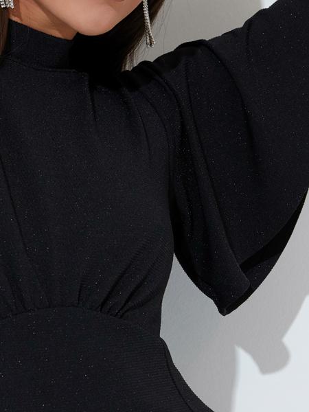 Платье со сборкой на груди - фото 4