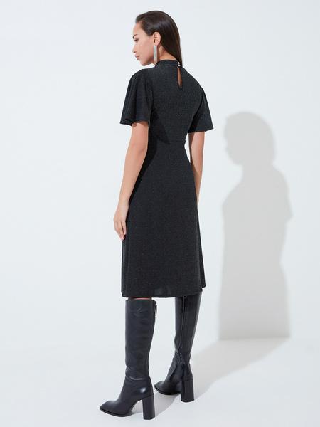 Платье со сборкой на груди - фото 5