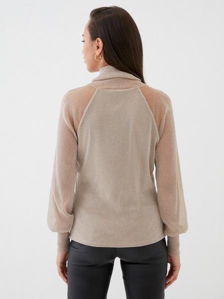 Блузка с прозрачными рукавами - фото 6