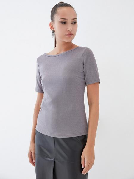 Блузка с вырезом-лодочкой - фото 5