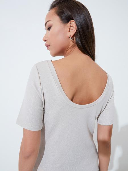Блузка с вырезом-лодочкой - фото 4