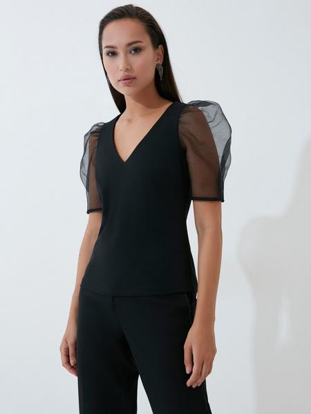 Блузка с рукавами-буфами - фото 1