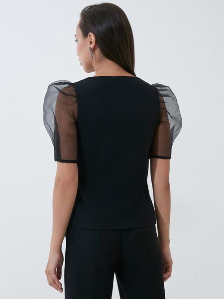 Блузка с рукавами-буфами - фото 5