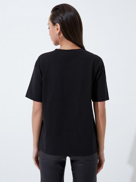 Хлопковая футболка с принтом - фото 4