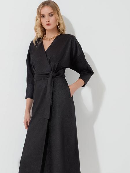 Платье с объемными рукавами - фото 1