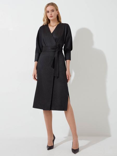 Платье с объемными рукавами - фото 2