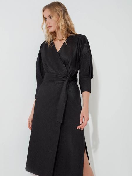 Платье с объемными рукавами - фото 4