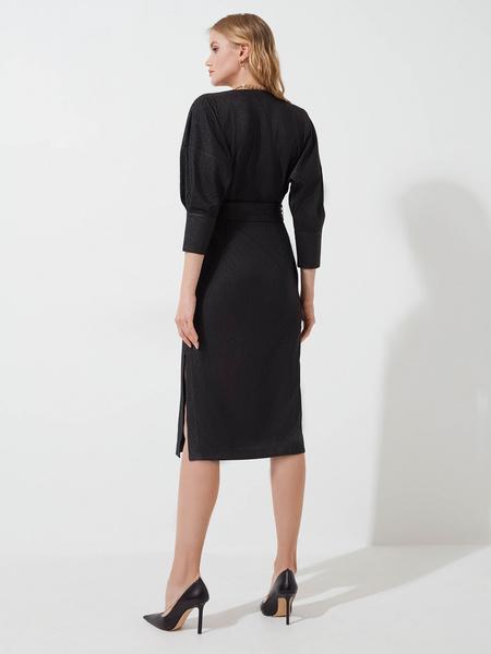 Платье с объемными рукавами - фото 5