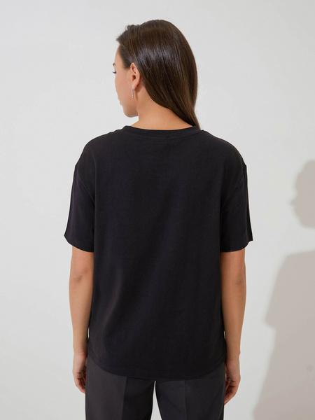 Хлопковая футболка с принтом - фото 5