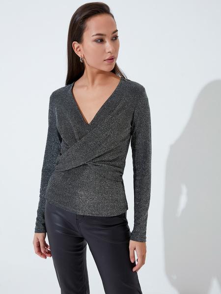 Блузка с перекрученным лифом - фото 2