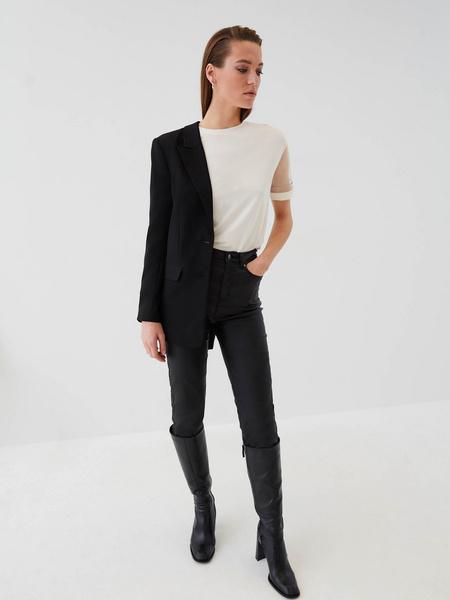 Блузка с прозрачными рукавами - фото 2