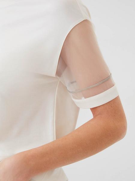 Блузка с прозрачными рукавами - фото 4