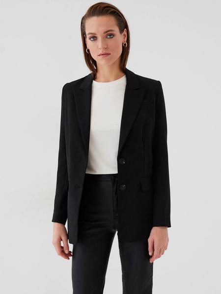 Блузка с прозрачными рукавами - фото 7