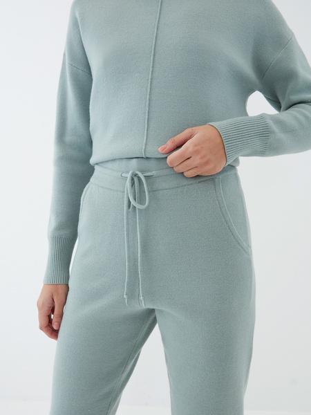 Трикотажные брюки с завязками - фото 3