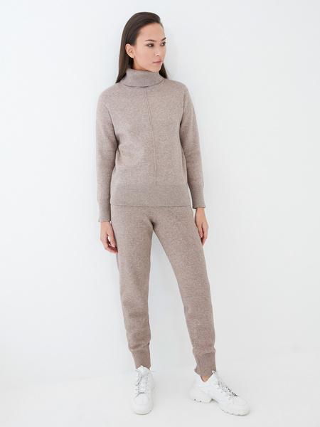 Трикотажные брюки с завязками - фото 1
