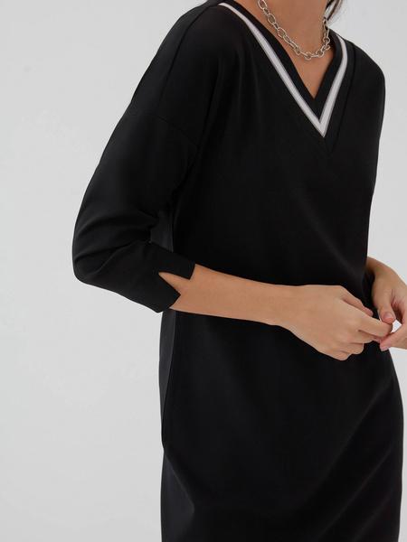 Прямое платье из вискозы - фото 4