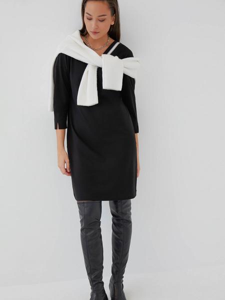 Прямое платье из вискозы - фото 7