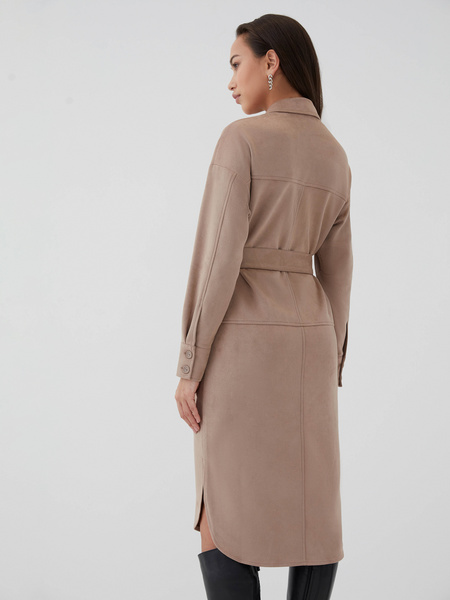 Замшевое платье - фото 7