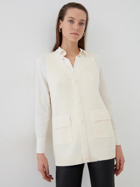 Блузка с удлиненными манжетами - фото 6