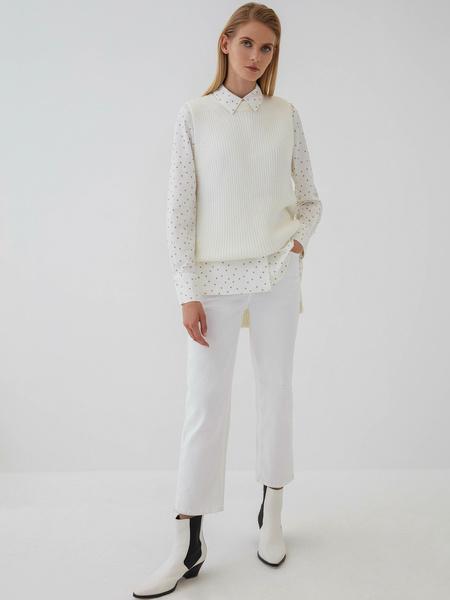 Блузка с удлиненными манжетами - фото 7