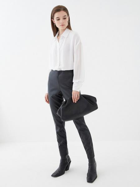 Блузка с прозрачным рукавом - фото 1