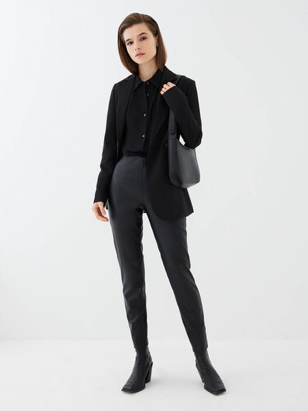 Блузка с прозрачным рукавом - фото 2