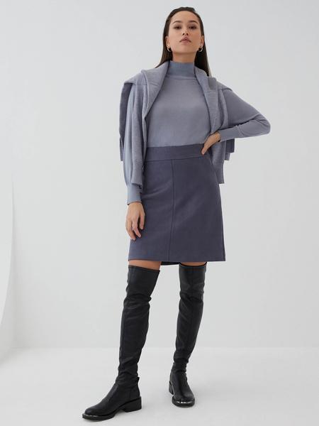Замшевая юбка-трапеция
