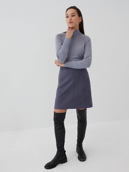 Замшевая юбка-трапеция - фото 6