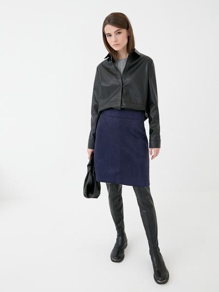 Замшевая юбка - фото 1