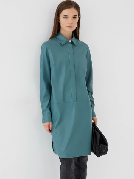 Платье из экокожи - фото 1