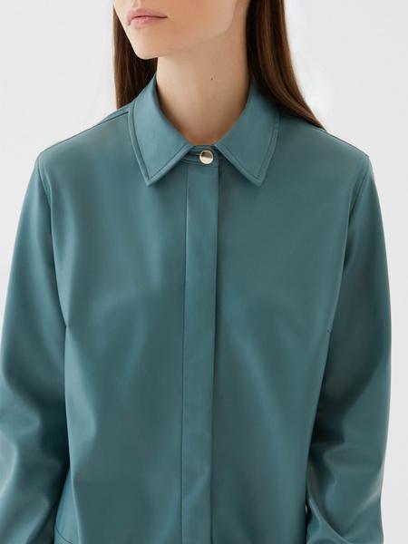 Платье-рубашка из экокожи - фото 3