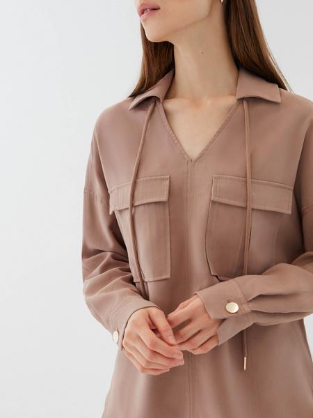 Блузка с карманами - фото 3