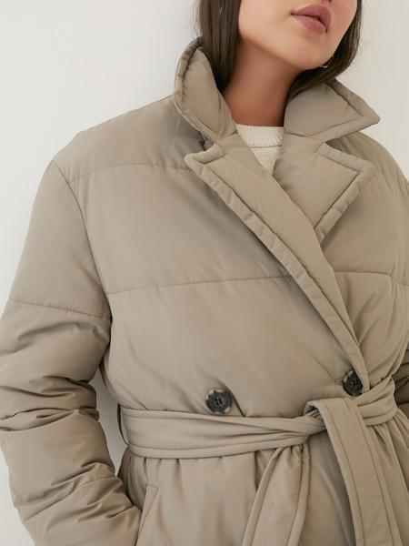 Пальто на поясе - фото 3