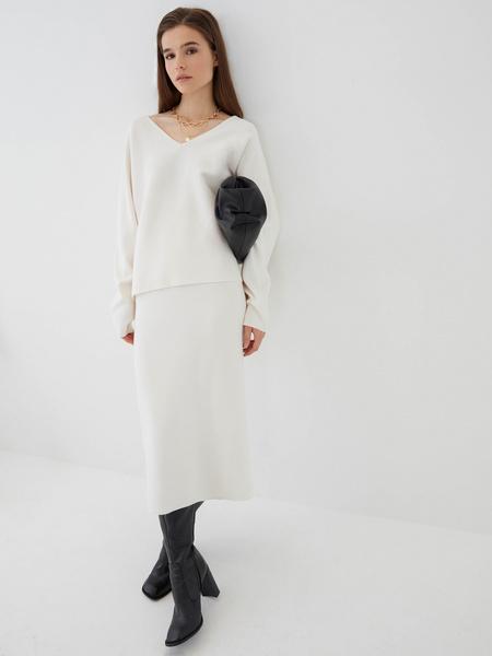 Трикотажная юбка-карандаш - фото 1