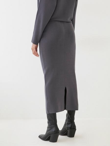 Трикотажная юбка-карандаш - фото 4