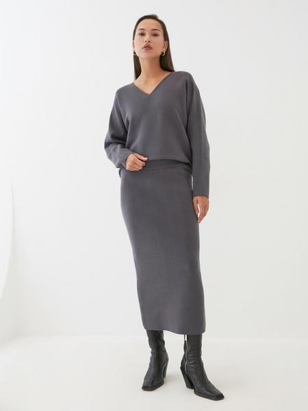 Трикотажная юбка-карандаш - фото 5