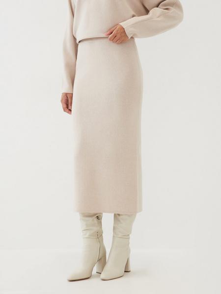 Трикотажная юбка-карандаш - фото 2