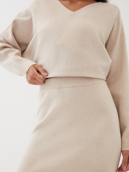 Трикотажная юбка-карандаш - фото 3