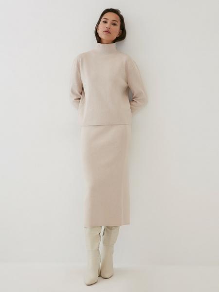 Трикотажная юбка-карандаш - фото 6