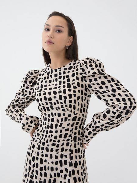 Платье с воланом из вискозы - фото 1